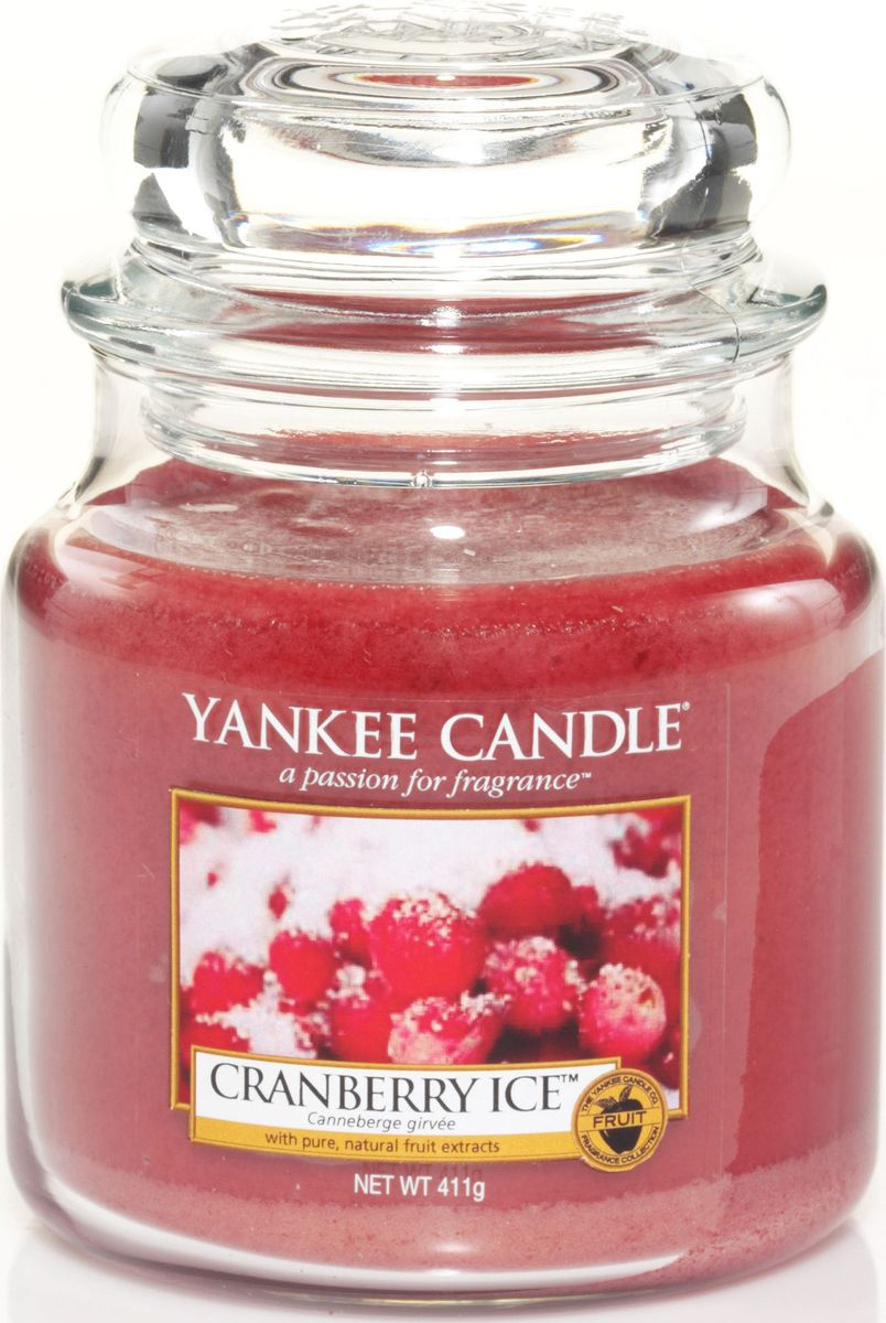 Ароматическая свеча Yankee Candle Клюква со льдом / Cranberry Ice, 65-90 ч свеча клюква со льдом yankee candle свеча клюква со льдом