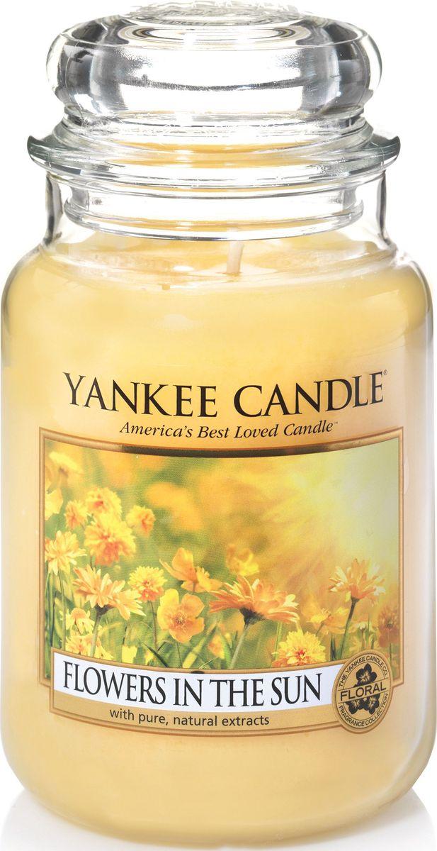 Ароматическая свеча Yankee Candle Цветы на солнце / Flowers In The Sun, 110-150 ч ароматическая свеча yankee candle дикая мята wild mint 110 150 ч