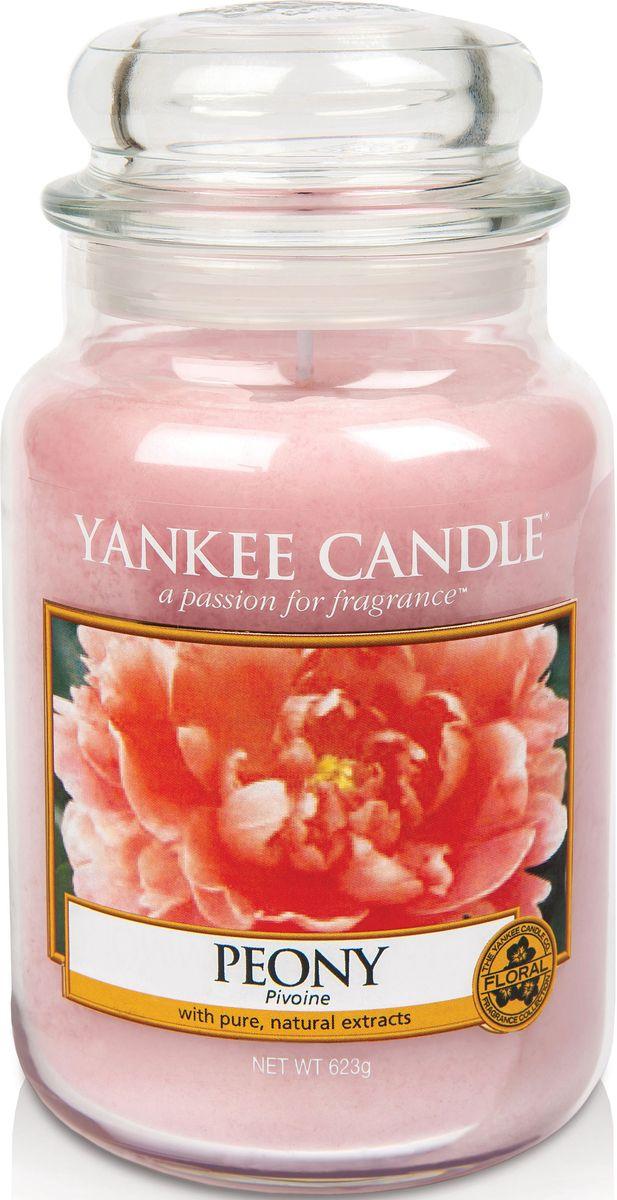 Ароматическая свеча Yankee Candle Пион / Peony, 110-150 ч ароматическая свеча yankee candle lavender small jar candle объем 104 г