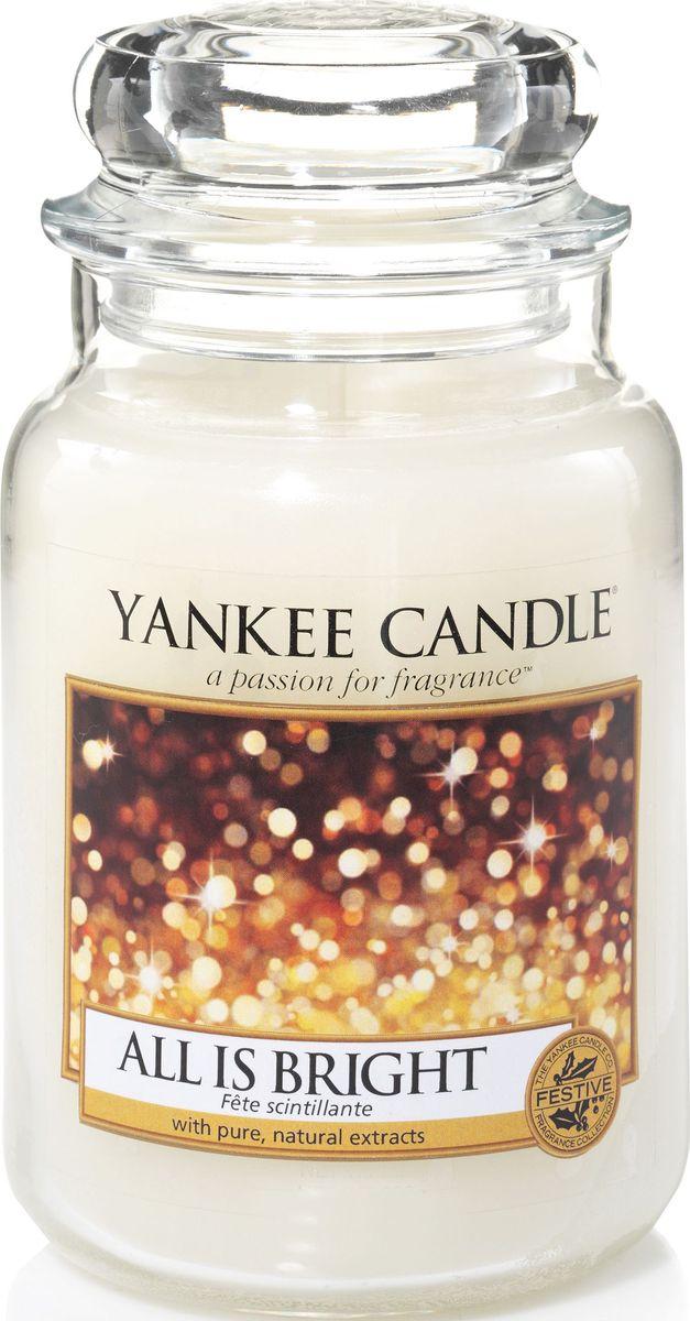 Ароматическая свеча Yankee Candle Светло и ярко / All Is Bright, 110-150 ч ароматическая свеча yankee candle дикая мята wild mint 110 150 ч