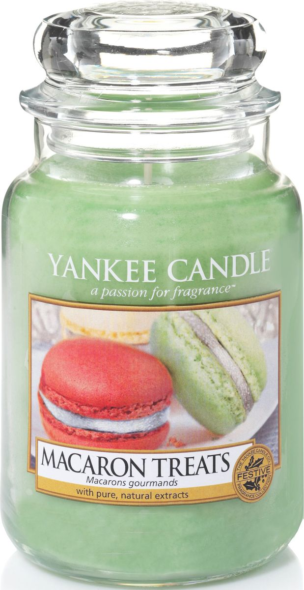 Ароматическая свеча Yankee Candle Макаруны / Macaron Treats, 110-150 ч ароматическая свеча yankee candle дикая мята wild mint 110 150 ч