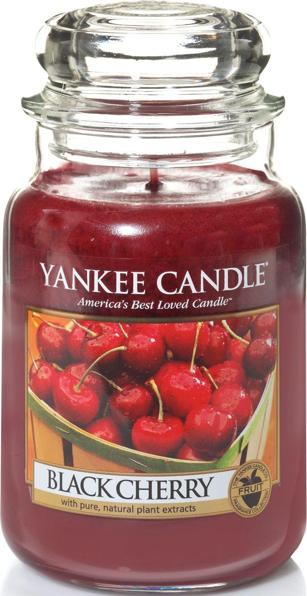 Ароматическая свеча Yankee Candle Черная черешня / Black Cherry, 110-150 ч ароматическая свеча yankee candle дикая мята wild mint 110 150 ч