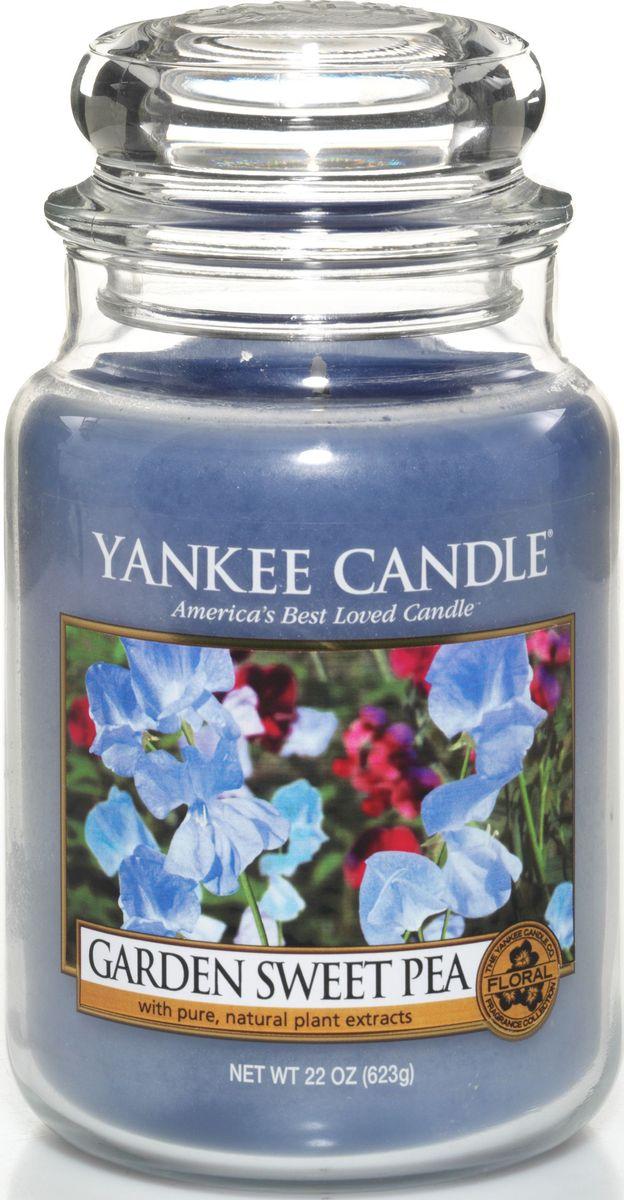 Ароматическая свеча Yankee Candle Душистый горошек / Garden Sweet Pea, 110-150 ч ароматическая свеча yankee candle дикая мята wild mint 110 150 ч