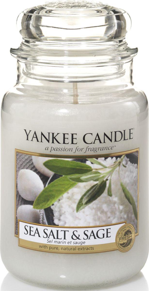 Ароматическая свеча Yankee Candle Морская соль и шалфей / Sea Salt & Sage, 110-150 ч ароматическая свеча yankee candle lavender small jar candle объем 104 г