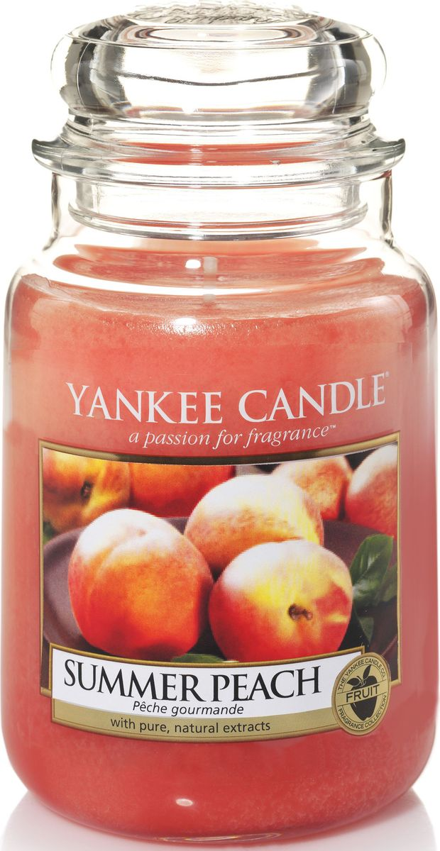 Ароматическая свеча Yankee Candle Летний персик / Summer Peacn, 110-150 ч ароматическая свеча yankee candle summer peach jar candle объем 623 г 623 мл