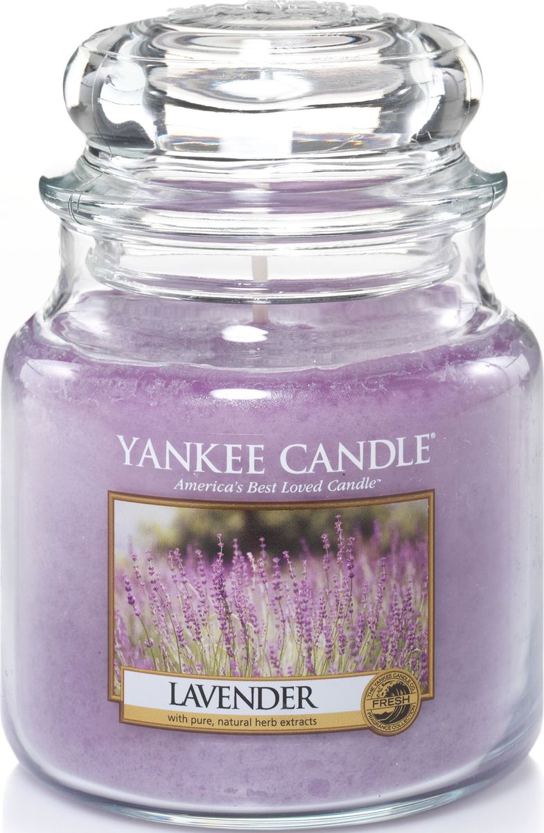 Ароматическая свеча Yankee Candle Лаванда / Lavender, 25-45 ч диффузор yankee candle lemon lavender decor reed diffuser объем 170 мл