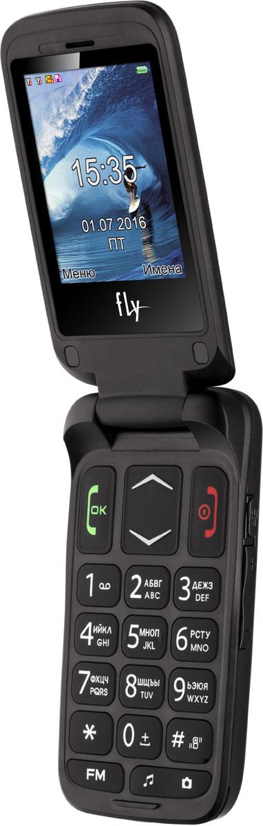 Мобильный телефон Fly Ezzy Trendy 3, темно-серый мобильный телефон fly flip red