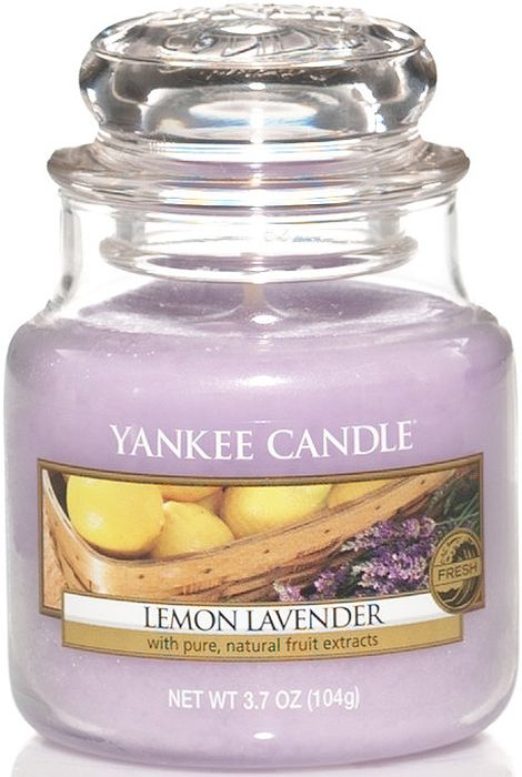 Ароматическая свеча Yankee Candle Лимон и лаванда / Lemon Lavender, 25-45 ч диффузор yankee candle lemon lavender decor reed diffuser объем 170 мл