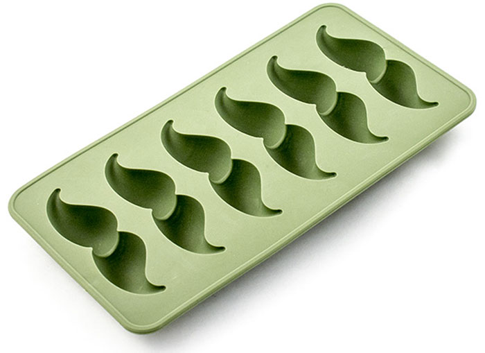 Форма для льда Эврика Усы, цвет: зеленый, 6 ячеек цена