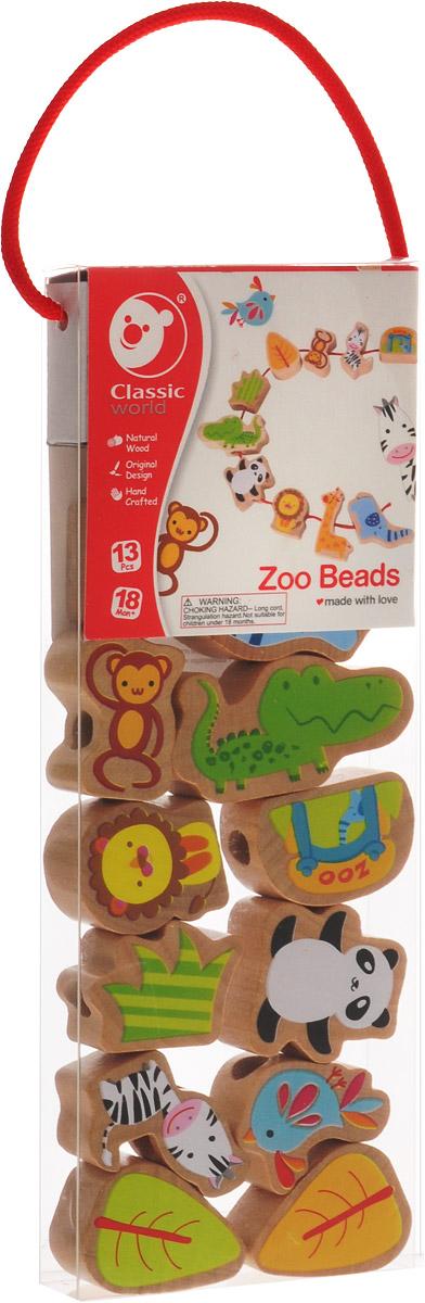 Classic World Игра-шнуровка Веселый зоопарк цена