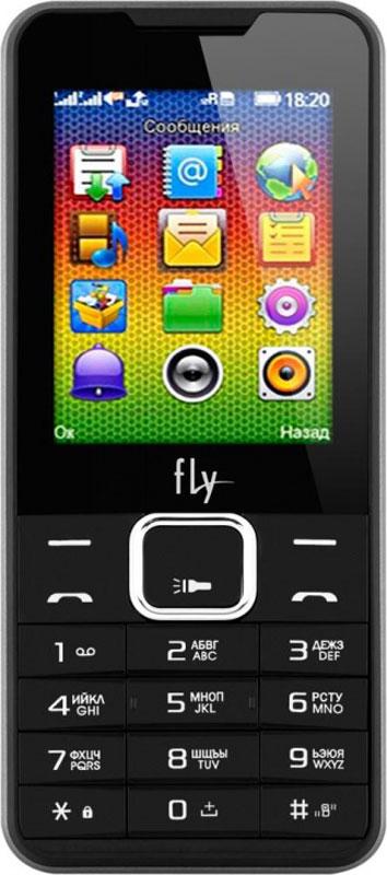 Мобильный телефон Fly FF243, черный мобильный телефон fly ff243 black