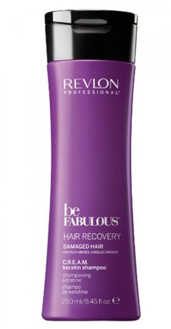 Revlon Professional Be Fabulous C.R.E.A.M. Keratin Shampoo Очищающий шампунь с кератином, 250 мл