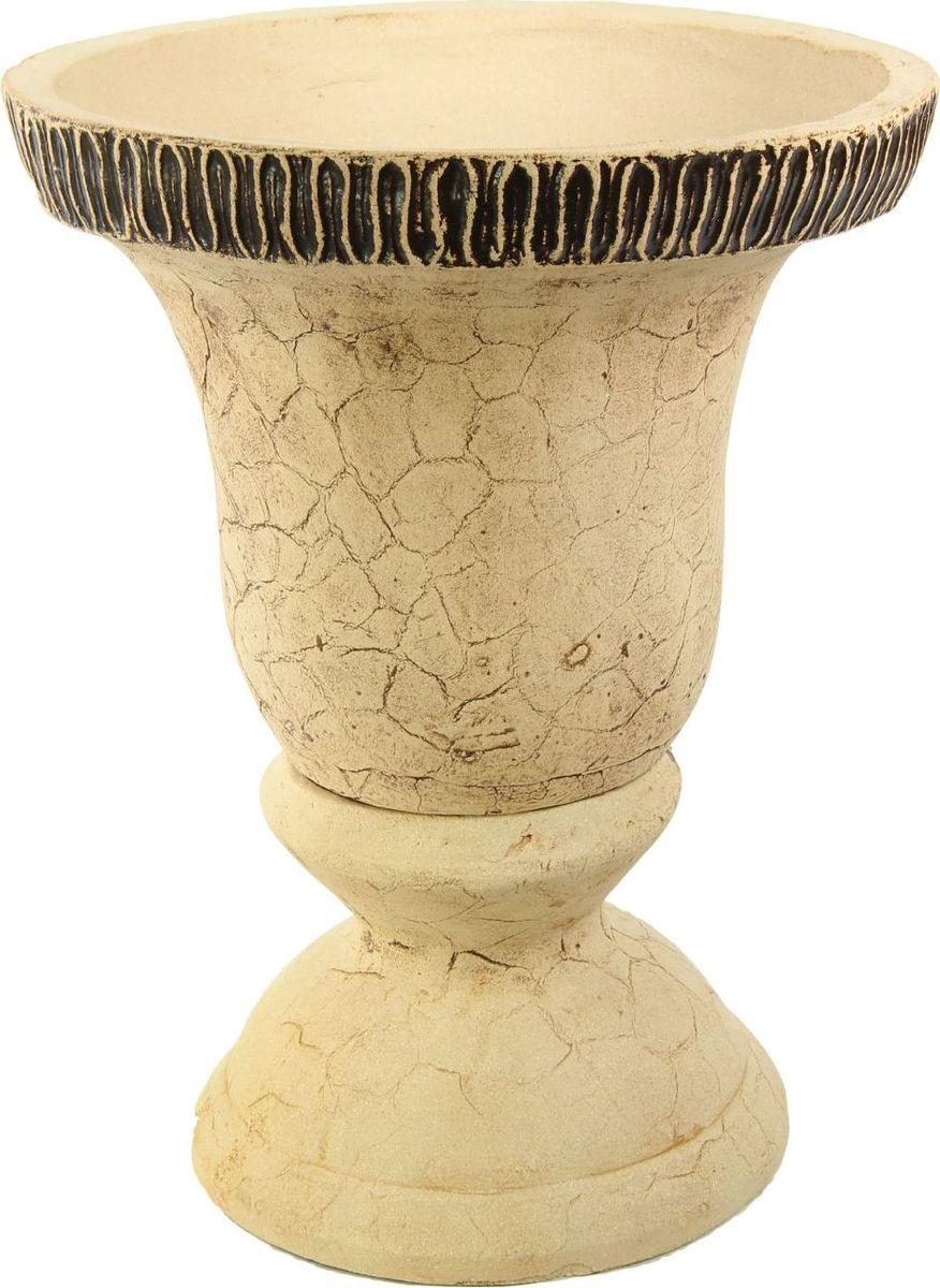 Кашпо Керамика ручной работы Колокол, цвет: шамот, 65 л