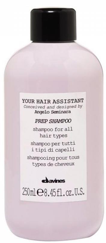 Davines Your Hair Assistant Prep Shampoo Универсальный шампунь для подготовки волос к укладке для всех типов волос, 250 мл dikson восстанавливающий и увлажняющий шампунь для всех типов волос 980 мл