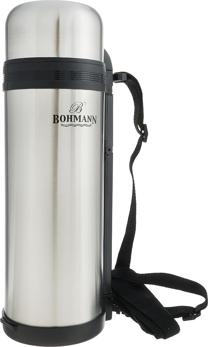 """Термос """"Bohmann"""", цвет: стальной, черный, 1,8 л"""
