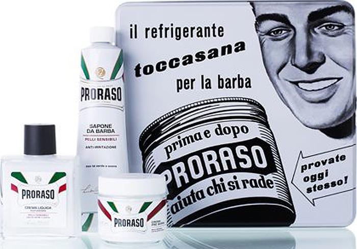 Proraso Набор для бритья Toccasana: крем до бритья, 100 мл, крем для бритья, 150 мл, бальзам после бритья, 100 мл станки для бритья многоразовые