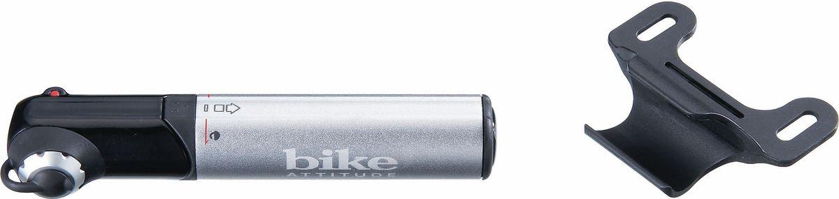Насос велосипедный Bike Attitude GM42, ручной, цвет: черный, серый