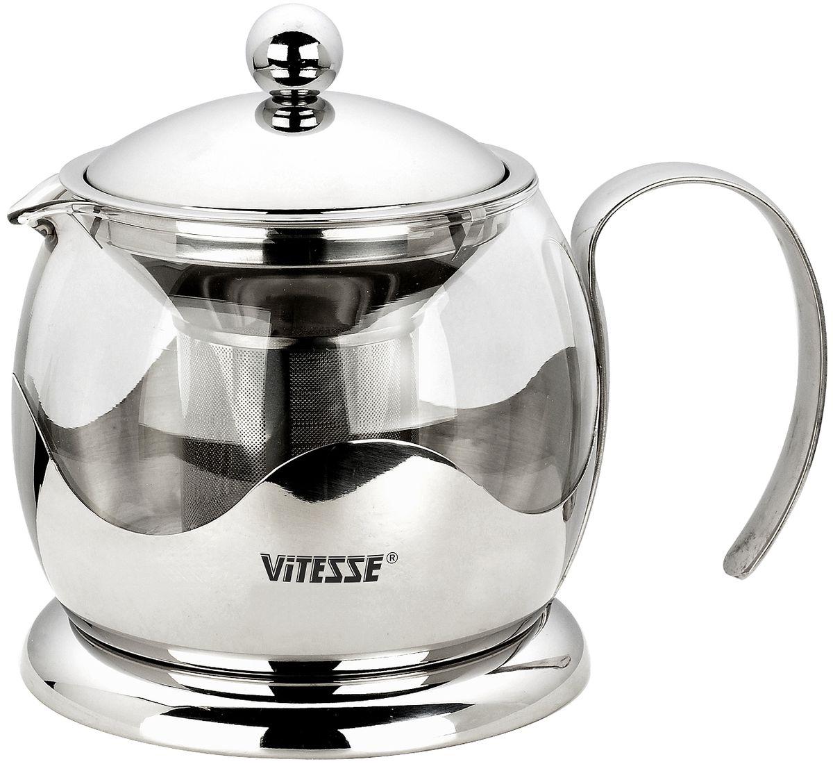 Чайник заварочный Vitesse Aniya, с фильтром, 800 мл чайник заварочный vitesse aniya с фильтром 800 мл