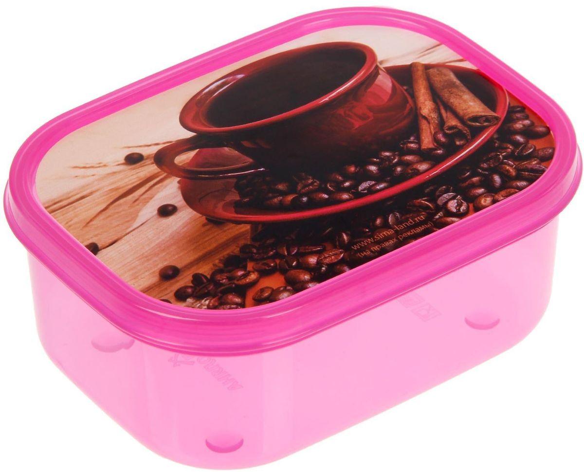 Ланч-бокс Доляна Кофе, прямоугольный, 500 мл ланч бокс доляна завтрак квадратный 700 мл