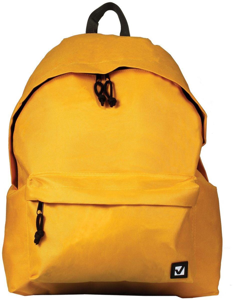 Brauberg Рюкзак Сити-формат цвет желтый 225378 цена 2017