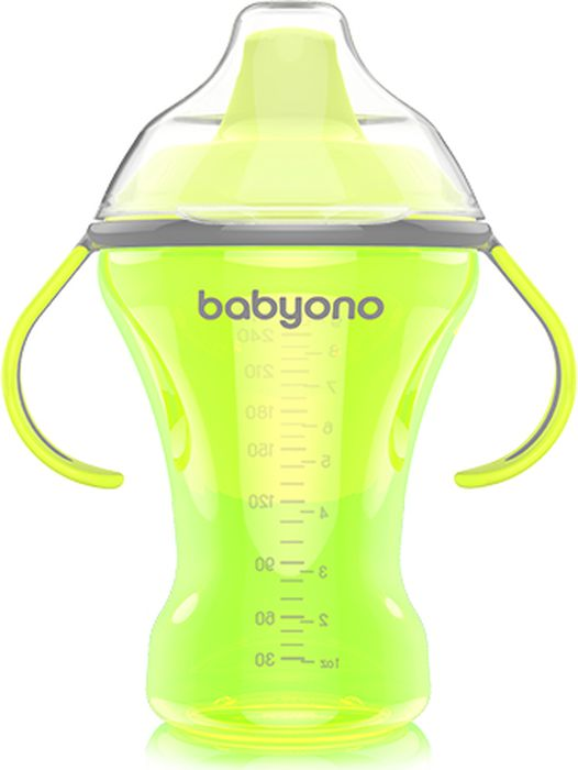 BabyOno Поильник непроливайка Natural Nursin 260 мл цвет желтый недорого