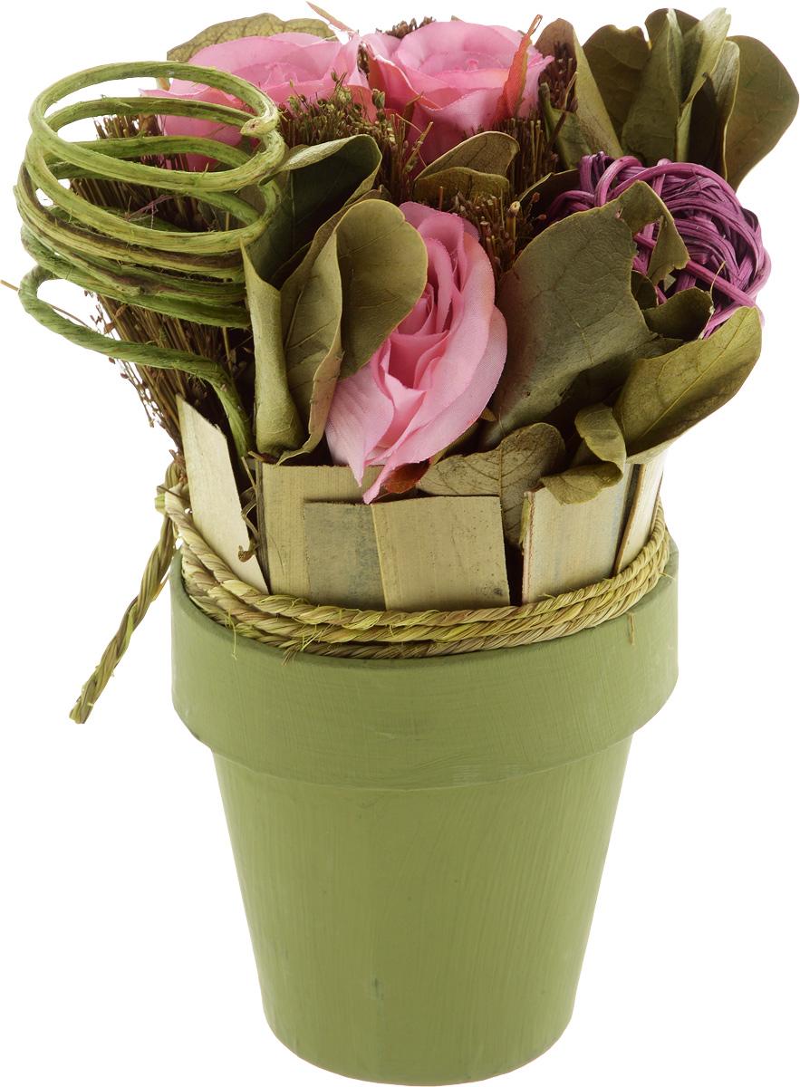 Декоративный букет Magic Home Летний, с сухоцветами декоративный букет magic home свежесть с сухоцветами