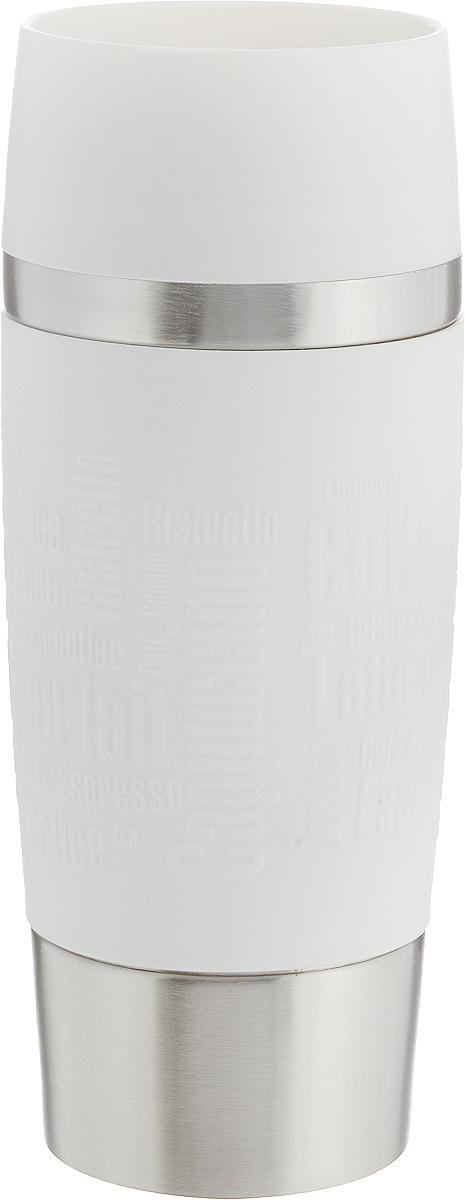 Термокружка Emsa Travel Mug, цвет: белый, стальной, 360 мл термокружка emsa travel mug 360 мл сталь пластик красный