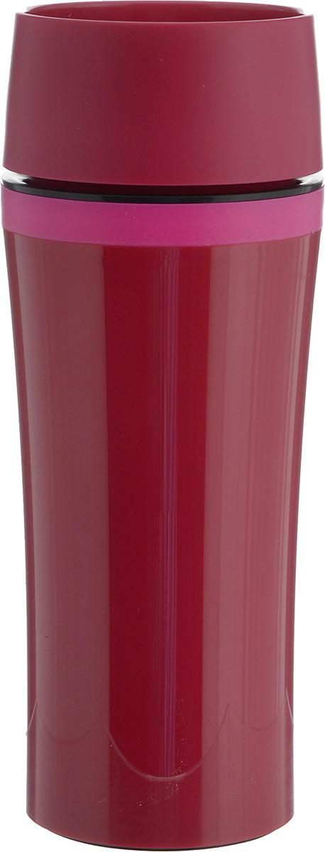 Термокружка Emsa Travel Mug Fun, цвет: фуксия, 360 мл термокружка emsa travel mug 360 мл сталь пластик красный