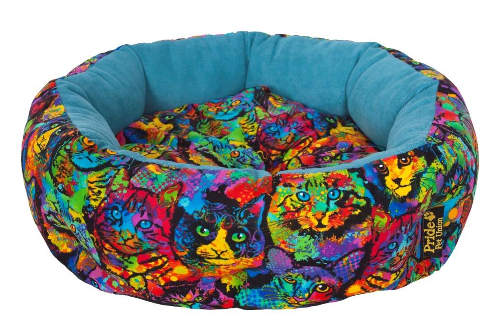 """Лежак для животных Pride """"Мисс Китти"""", 45 х 45 х 12 см"""