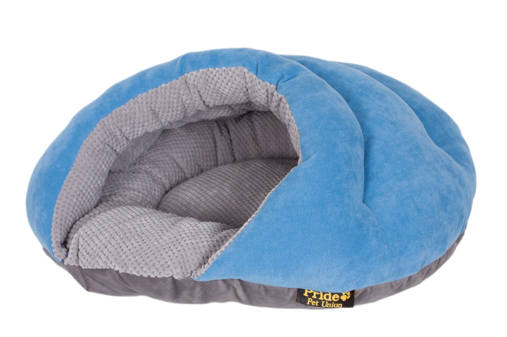 "Лежак для животных Pride ""Бургер"", цвет: голубой, 60 х 60 х 33 см"