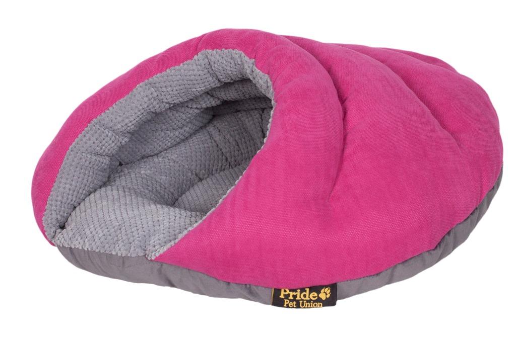 Лежак для животных Pride Бургер, цвет: розовый, 60 х 60 х 33 см