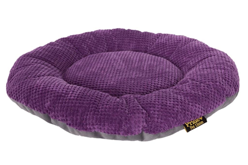 "Лежак для животных Pride ""Ромашка"", цвет: фиолетовый, 48 х 48 х 8 см"