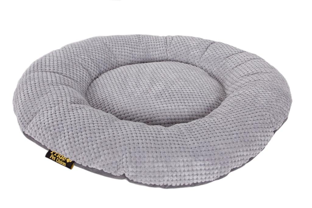 """Лежак для животных Pride """"Ромашка"""", цвет: серый. Размер 60 х 60 х 9 см"""