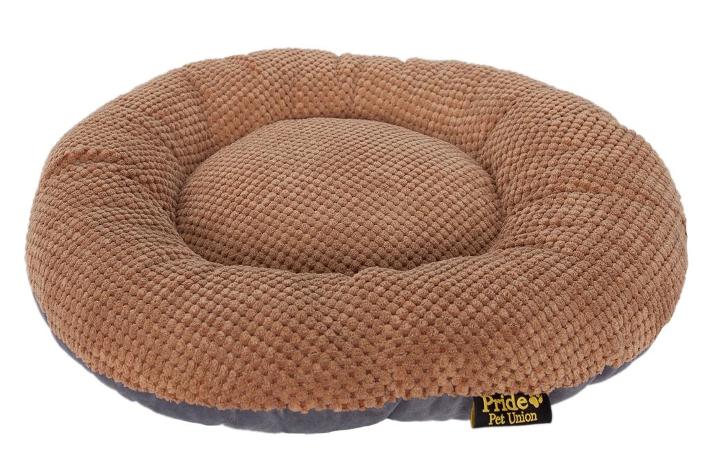 Лежак для животных Pride Ромашка, цвет: мокко, 60 х 60 х 9 см