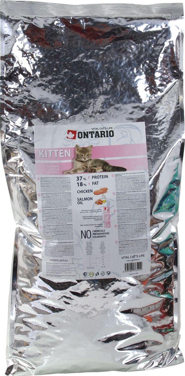 "Корм сухой Ontario ""Kitten"" для котят, с курицей, 10 кг"