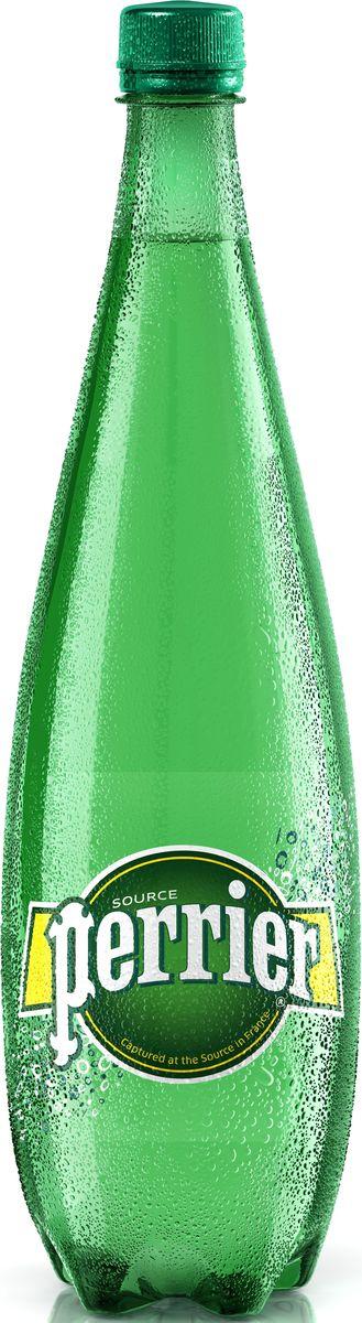 Perrier вода минеральная газированная гидрокарбонатно-кальциевая, 1 л