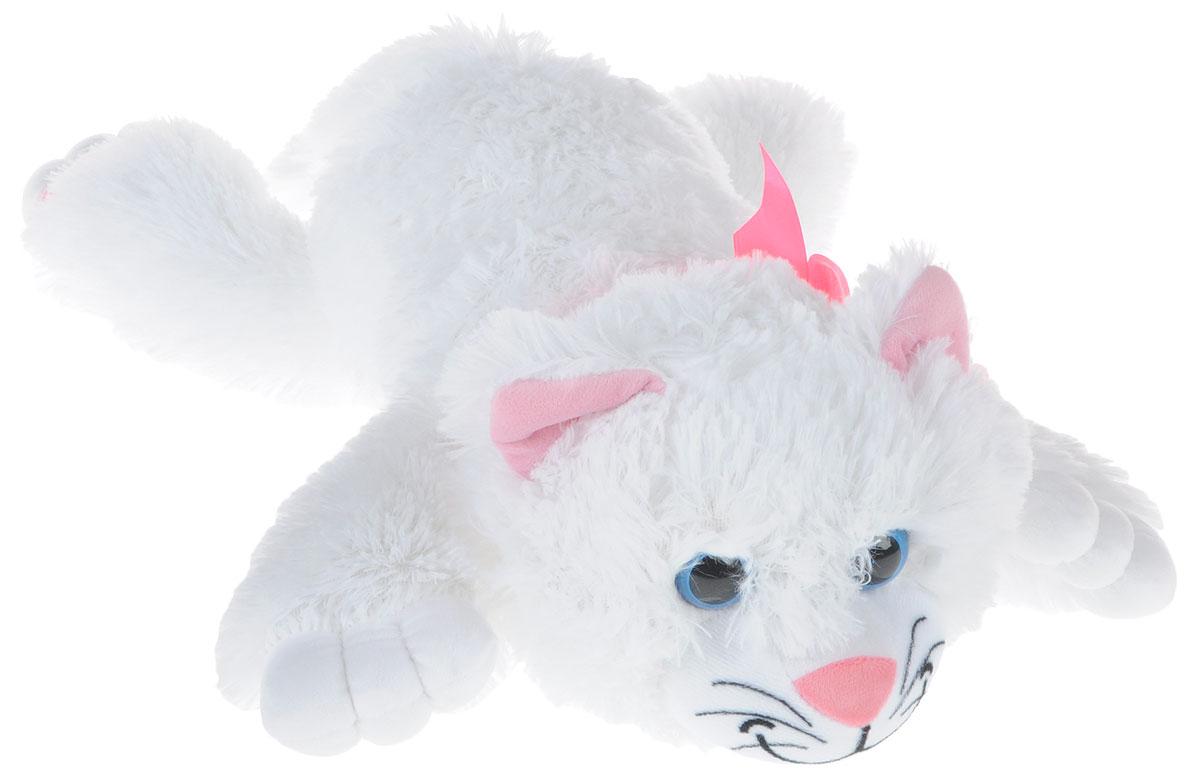 """Мягкая игрушка СмолТойс """"Котенок"""" длина 52 см белый"""