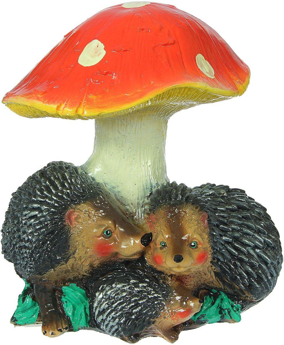 Фигура садовая Premium Gips Семья ежиков под грибом, 22 х 26 х 28 см фигура садовая premium gips семья ежиков под грибом 22 х 26 х 28 см