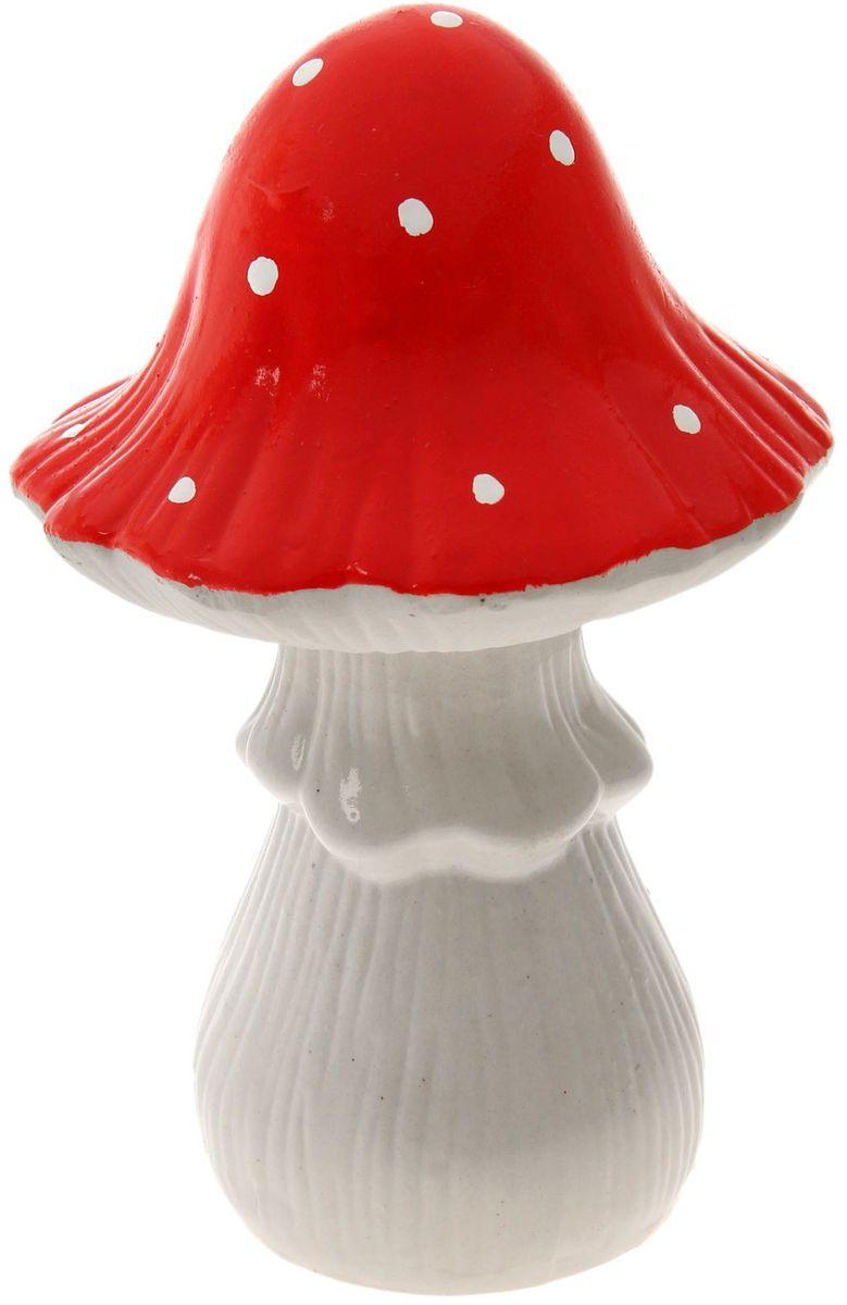 Фото - Фигура садовая Керамика ручной работы Мухомор, 12 х 12 х 20 см фигура кормушка садовая керамика ручной работы арбуз 10 х 12 х 16 см