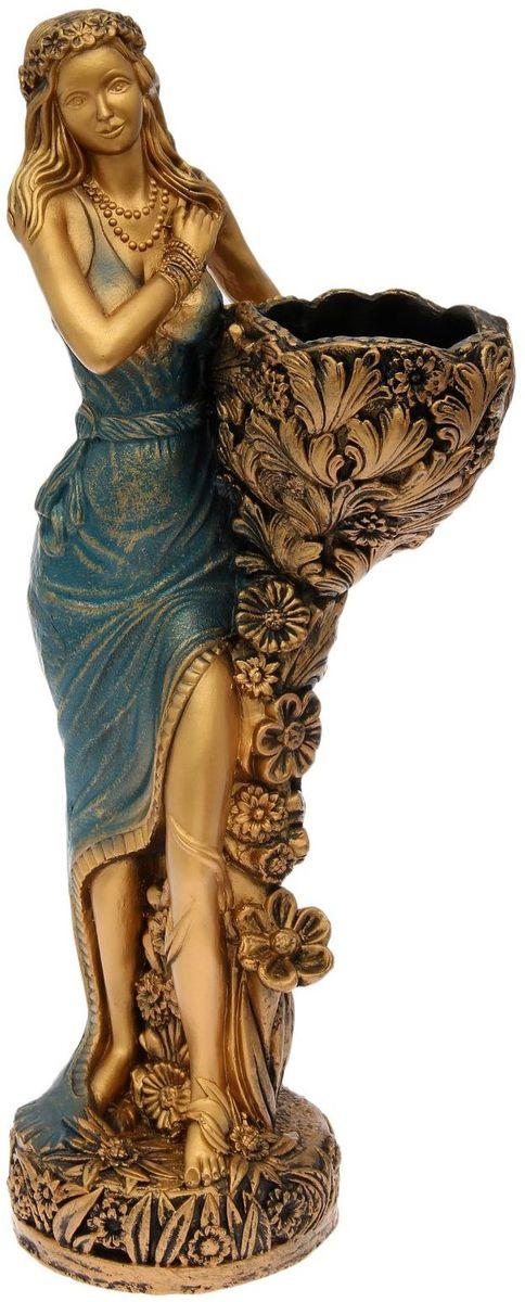"Фигура садовая ""Лесная фея"", цвет: синий, 34 х 33 х 86 см"