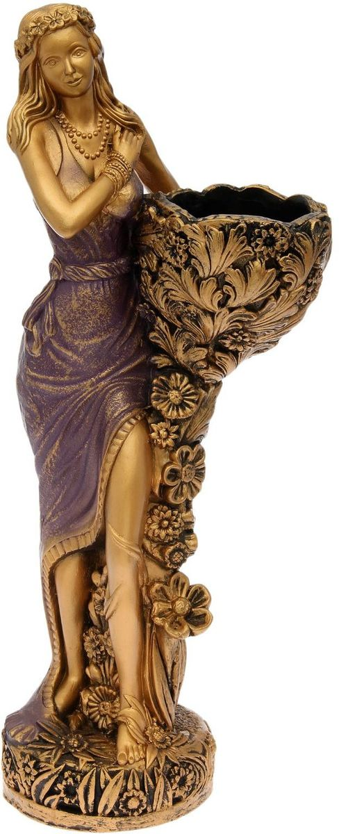 Фигура садовая Лесная фея, цвет: сиреневый, 34 х 33 х 86 см цена