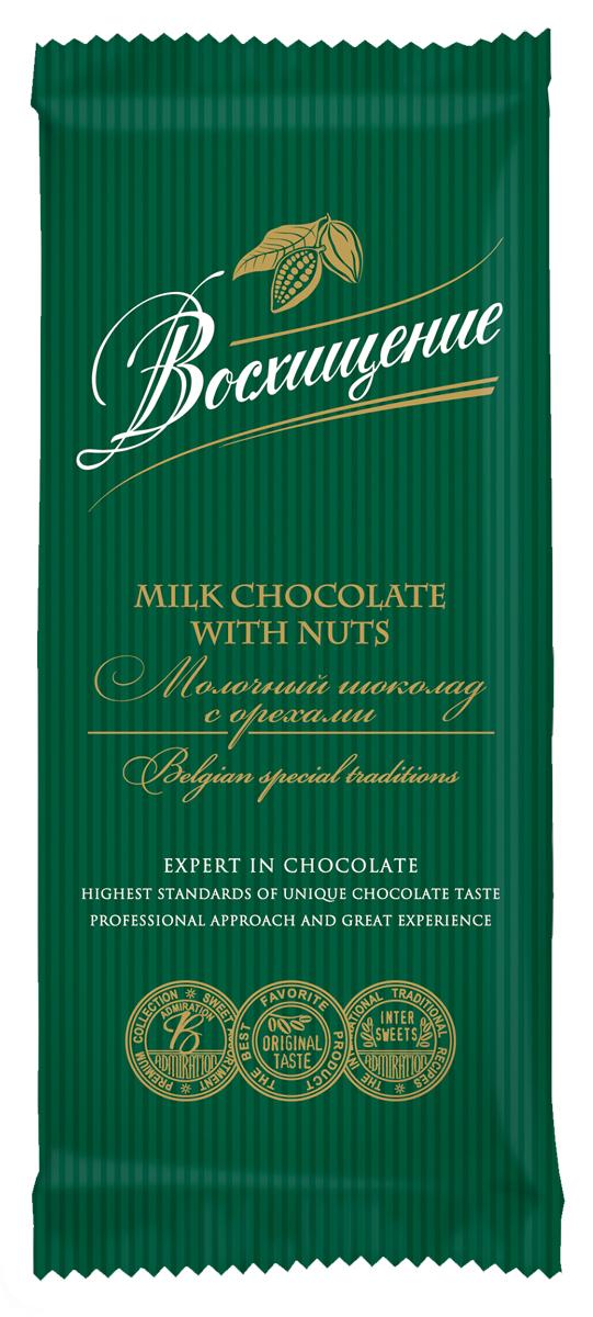 Волшебница Восхищение шоколад молочный с орехами, 90 г