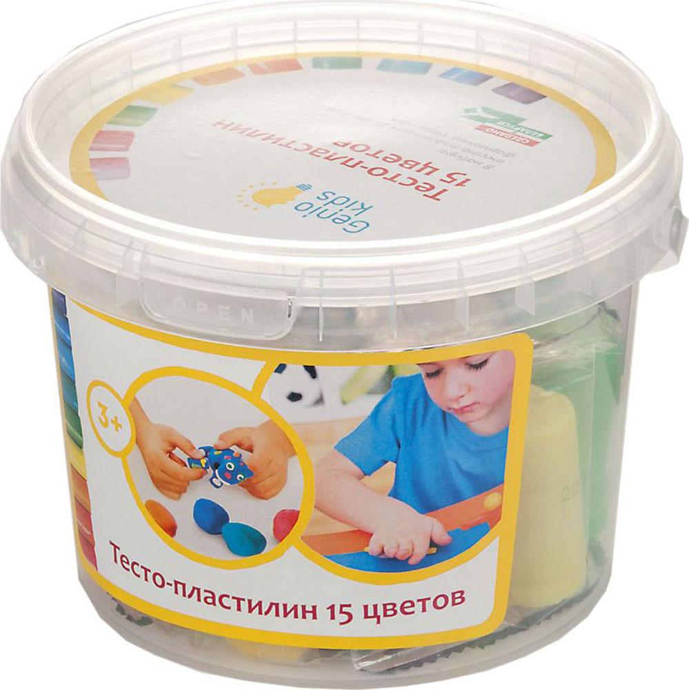 Genio Kids Тесто-пластилин 15 цветов genio kids набор для детского творчества котик