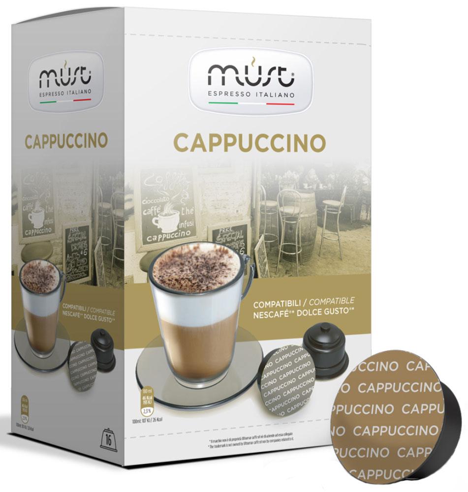 MUST DG Cappucino кофе капсульный, 16 шт капсулы must dg cremoso