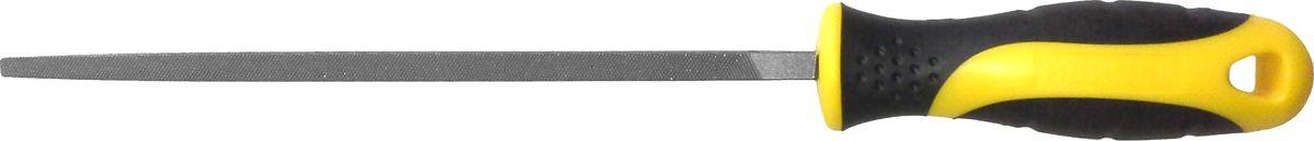 НапильникBerger, четырехгранный, с рукояткой, 200 мм напильник трёхгранный с рукояткой berger 200 мм bg1152