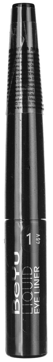 цена на BeYu Подводка для век Liquid Eye Liner, с кисточкой, тон №1, 4 мл