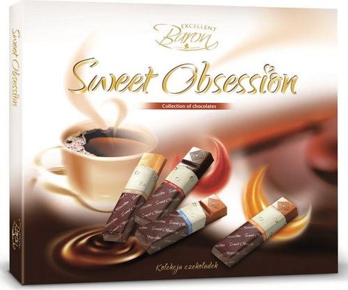 Baron Сладкое Наваждение шоколадный набор, 250 г gbs конфеты фигурные из молочного шоколада с воздушным рисом и вкусом карамели 75 г
