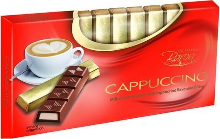 Baron Капучино молочный шоколад с начинкой, 100 г lindt creation шоколад фондан молочный шоколад c начинкой 100 г