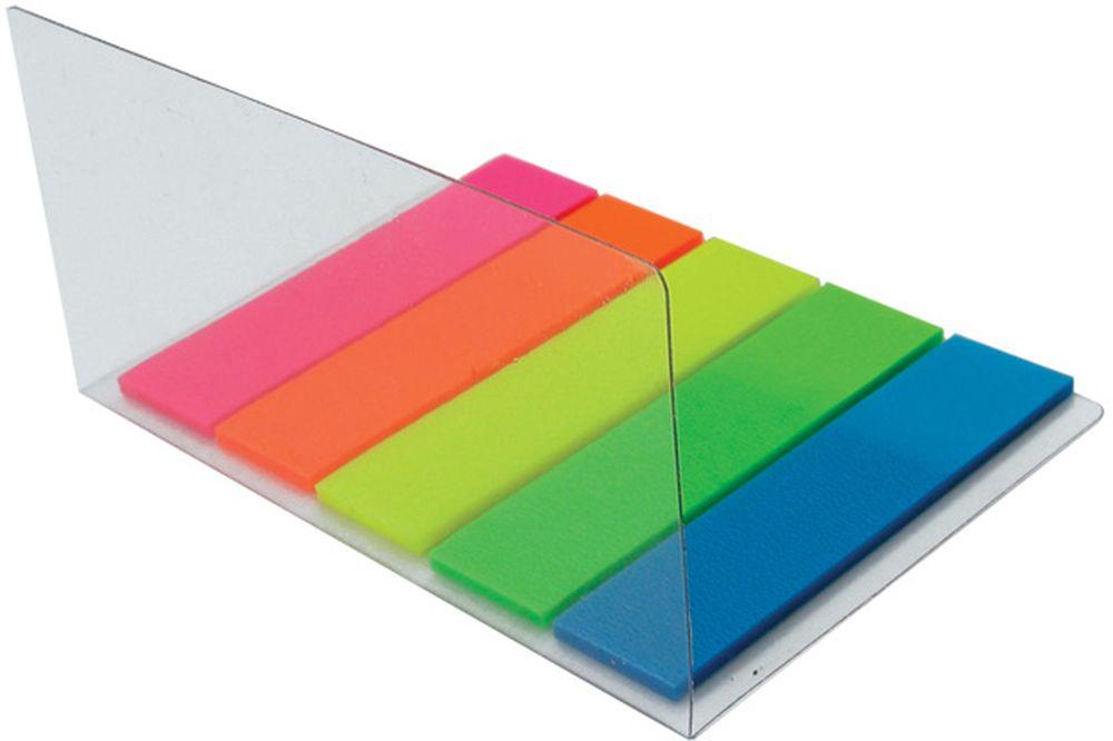 Brauberg Закладка с липким слоем 1,2 х 4,5 см 5 шт по 20 листов 122706 блок закладка с липким слоем разм 12х44мм пластик 5 цветов по 25л диспенс с ев п