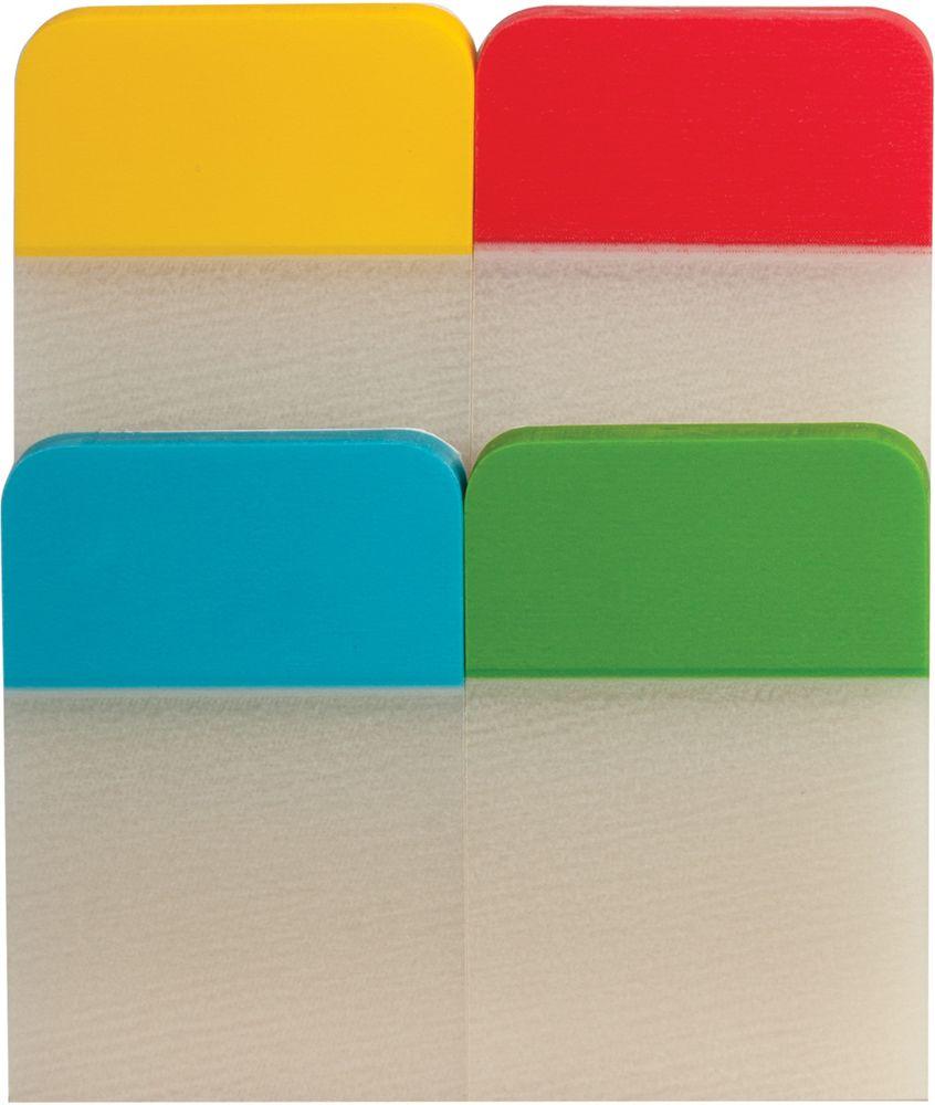 Brauberg Закладка-выделитель листов 2,5 х 3,8 см 4 шт по 20 листов 126696